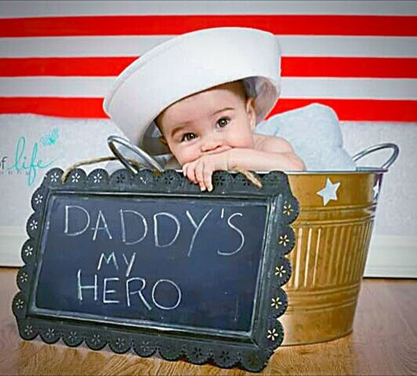 This Week On Eyeem Family❤ Navy Life Military Family American Flag Sailor Hats Daddys Girl  HERO Baby Photography Check This Out Chalkboard Bucket
