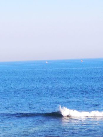 THE SEA Sea Horizon Over Water Water Beach Beauty In Nature Scenics Nature Wave Tranquility Blue Tranquil Scene Sky Day