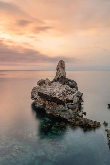 Keep me calm EyeEm Best Shots Calm Nature Beauty In Nature Cloud - Sky Horizon Horizon Over Water Idyllic Land Long Exposure Longexposure Nature No People Outdoors Rock Rock - Object Scenics - Nature Sea Sky Stack Rock Sunset Tranquil Scene Tranquility Water First Eyeem Photo