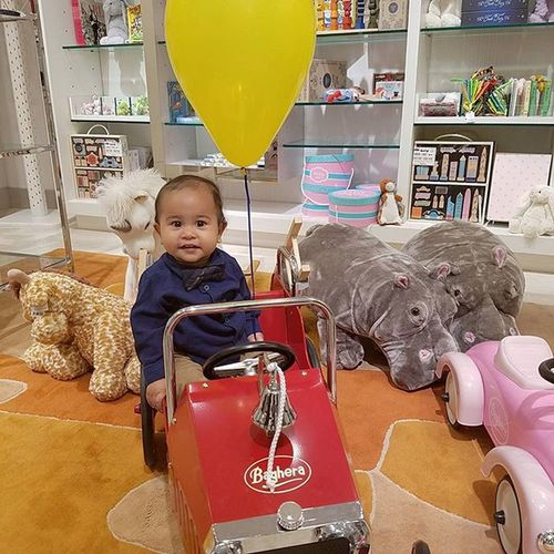 Look I am a firefighter Baby Handsome Jonathan  Littlepamiel Shopping Balloon Stuffedanimal