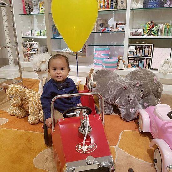 Look I am a firefighter Baby Handsome Jonathan  Littlepamiel Shopping Balloon Stuffedanimal