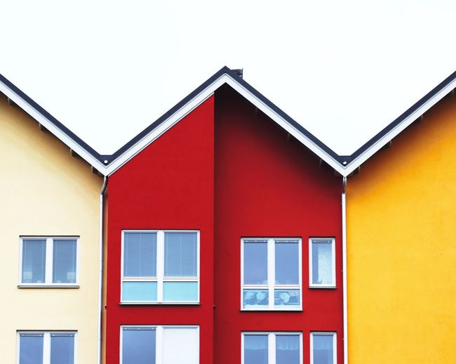 Architecture Building Exterior Built Structure Window House No People Day Outdoors Close-up Colorful Color Pop Colorful Houses Symmetry Symmetrical Architecture Scandinavia