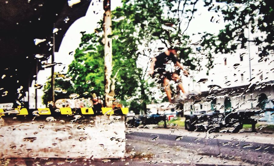 There Is Always A Way To Fly Bad Weather Good Mood Skateboarding No Gravity  Walking Around Taking Pictures Mural Harbor Melancholic Cityscapes Rainy Days