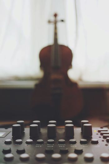 Old vs. New Recording Studio Music Production Synthesizer Violin Music Indoors  Arts Culture And Entertainment Musical Instrument Technology Focus On Foreground Close-up