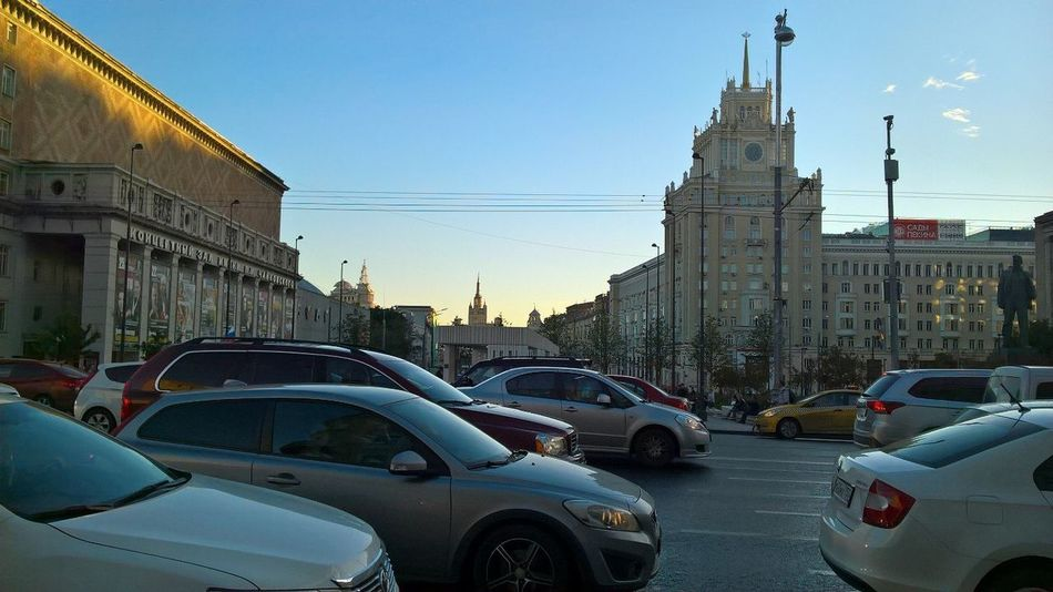 Pekin hotel,right on the left,Tchaikovsky Concert Hall,a monument to Mayakovsky City Life No Filters  Moscow City Russia