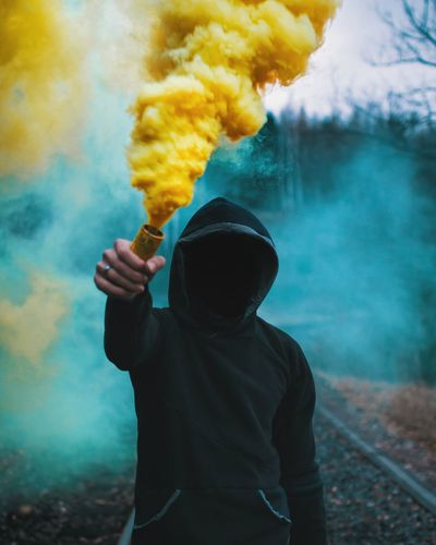 smoker One Person Adult Danger People Exploding Spooky Smoking - Activity One Man Only Men Adults Only RISK Casual Clothing Smog Holi Human Body Part Only Men Steam Standing The Portraitist - 2018 EyeEm Awards