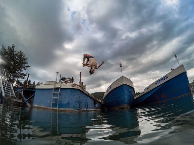 Freestyle Backflip Boats Abandon Adventure Water Outdoors