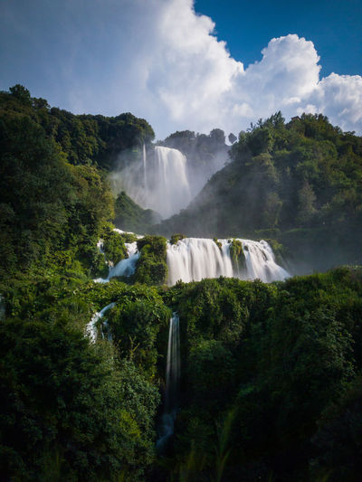 Scenic View Of Cascata Delle Marmore Waterfall