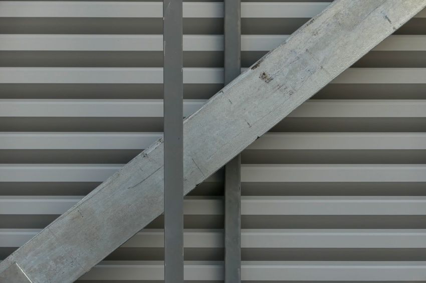 Pattern Full Frame No People Indoors  Backgrounds Architecture Close-up Built Structure Day Striped Metal Still Life Railing Wall - Building Feature Repetition