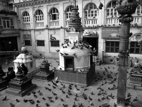 Architectural Column Architecture Buddhist Temple Building Building Exterior Built Structure City City Life Day Façade Historic Kathmandu Kathmandu, Nepal Lifestyles Nepal Outdoors Residential Building Travel Destinations Fine Art Photography