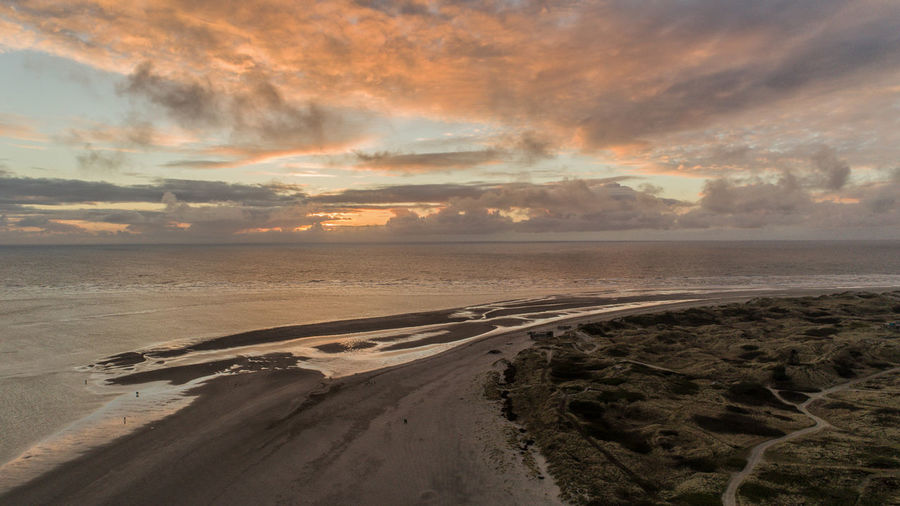 Beach Beauty In Nature Blåvand Cloud - Sky Day Denmark Denmark Love ❤️ Denmark 🇩🇰 Denmark 🇩🇰🇩🇰🇩🇰 Dji Drone  Landscape Multicopter Nature No People Outdoors Phantom 4 Pro Sand Scenics Sea Sky Sunset Tranquil Scene Tranquility Water