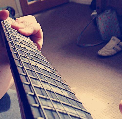 My Hobby Playing Music Guitar Enjoying Life