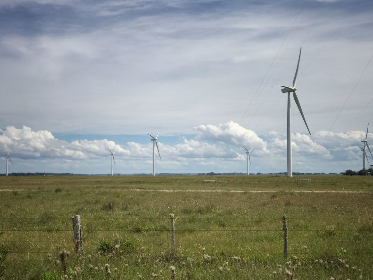 environment, fuel and power generation, wind turbine, sky, renewable energy, alternative energy, environmental conservation, turbine, field, landscape, land, cloud - sky, wind power, technology, nature, day, no people, rural scene, grass, scenics - nature, outdoors, electricity, power supply, sustainable resources