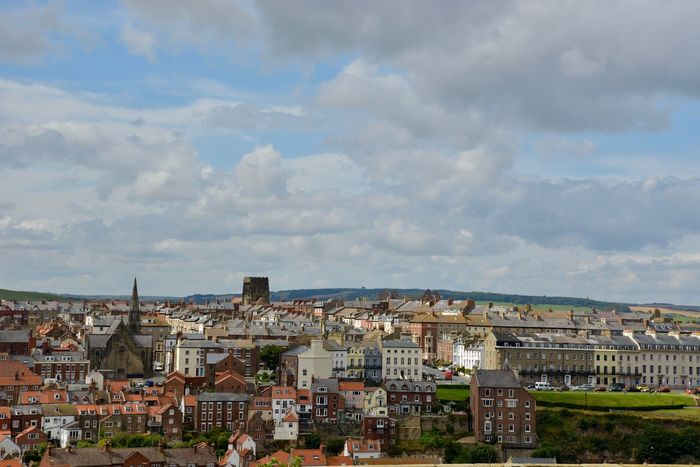 Whitby - view from Whitby abbey. City Count Dracula Dracula Dracula Country English Countryside Travel Photography Traveling Whitby Whitby North Yorkshire York Yorkshire Buildings Dracula's Castle England Fluffy Clouds Historical Place Seaside Town Travel Destinations Whitby View Yorkshire Dales
