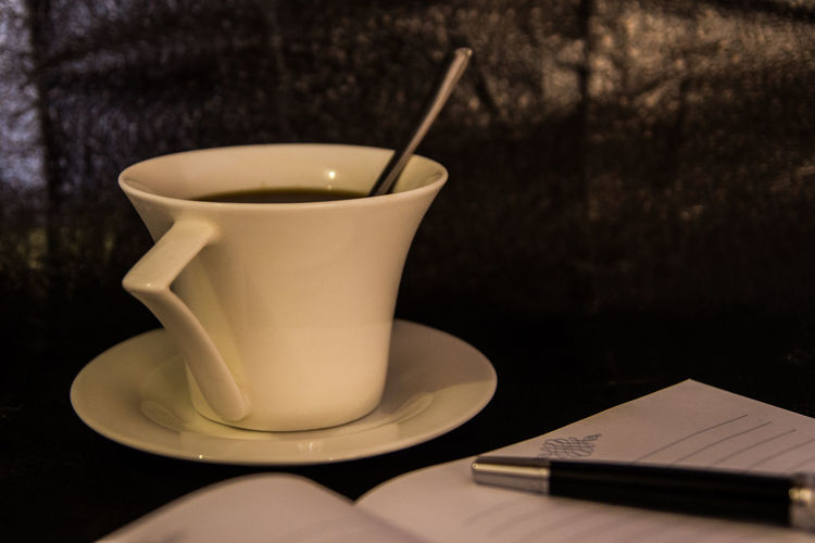 Close-up Coffe Coffee Cup Day Drink Food And Drink Indoors  No People Pen Saucer Table Week Start