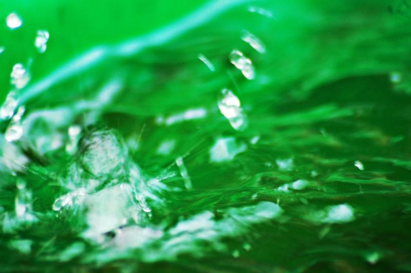 Splashing Water Water Waterdrops Splashing Water Close-up Close Up Macro Macro Photography Macro_collection Green Color Full Frame Backgrounds Close-up No People Abstract Nature Freshness Day Outdoors