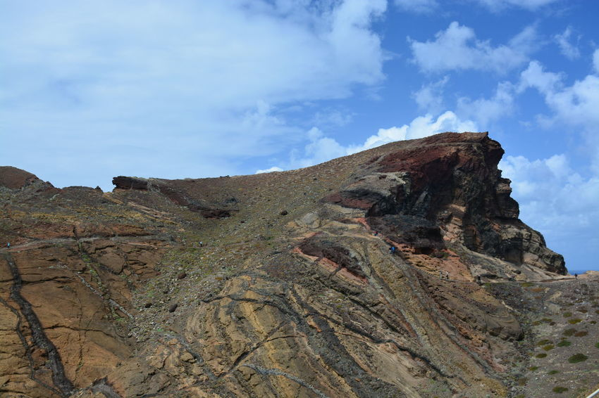 Eastern cape of Madeira Arid Climate Beauty In Nature Day Extreme Terrain Fossil Geology Landscape Madeira Madeira Island Mountain Nature No People Outdoors Physical Geography Rock - Object Rock Formation Scenics Sky Tranquility