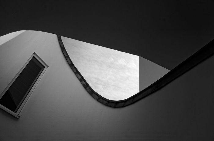 Vitra Design Museum Architecture Black And White Blackandwhite Building Building Exterior Built Structure Close-up Copy Space Day Design Geometric Shape Low Angle View Nature No People Outdoors Shadow Shape Sky Sunlight Vitra Campus Vitra Haus Vitra Museum Wall - Building Feature Window The Architect - 2018 EyeEm Awards