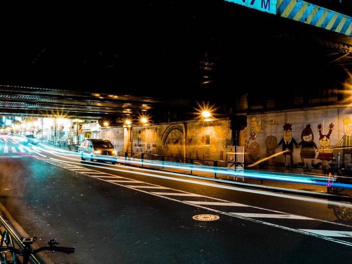 City lights in