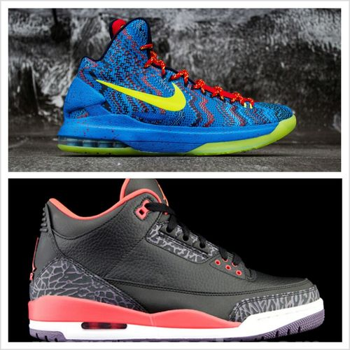 "Should I get thaa KD V "" Christmas"" or The "" Crimson"" retro 3s !? Comment Below"