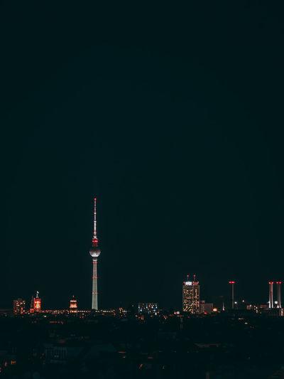 Fernsehturm Against Sky During Dusk