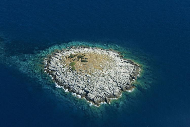 Aerial view of the islet near mljet island, croatia