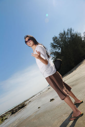 Beach Blue Casual Clothing Cloud Cloud - Sky Day Freedom Full Length Leisure Activity Lifestyles Nature Outdoors Skill  Sky Sunlight That's Me