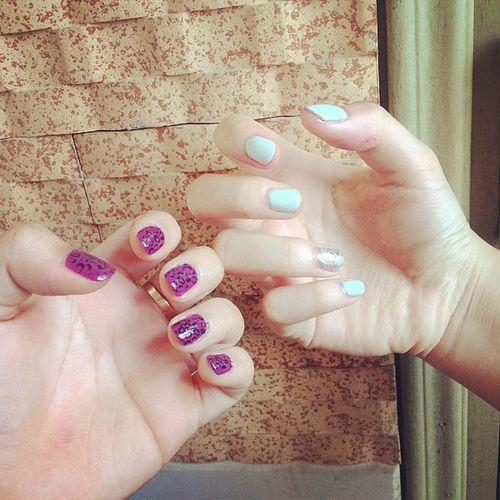 Made by @linhpejicpham Wonderfulnails Leopardprint  Mint Glitter @flynnfly