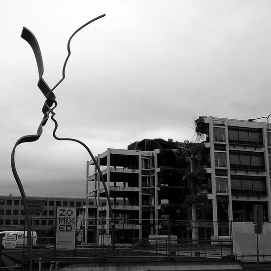 Art Love and Destruction Contradictio In Terminus Architecture Building Exterior Architecture Building Exterior Built Structure Residential Structure Residential Building City Sky Outdoors Residential District Tall - High City Life No People Flying (c) 2016 Shangita Bose All Rights Reserved Amsterdam Bijlmer ArenA Netherlands Monochrome Photography Embrace Urban Life