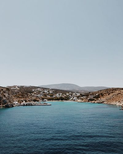 Greek Island Copy Space Sky Tranquility Tranquil Scene Water Scenics - Nature Sea Nature Beauty In Nature Clear Sky No People Outdoors Beach Idyllic A New Beginning 2018 In One Photograph