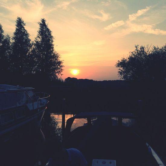 Holland Friesland Oudkerk Sunset