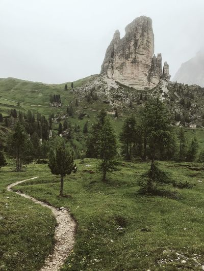 C I N Q U E T O R R I Italy Dolomites Mountain Sky Plant Nature Day History No People The Past Tranquility Green Color Travel Destinations Landscape