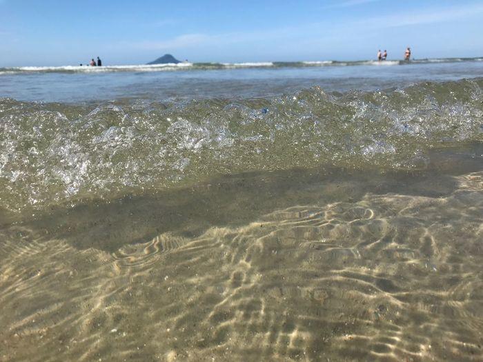 Praia de Juquehy Brasilianbeach Close-up Juquehy Sea Water Beach Shore Nature Sand Beauty In Nature