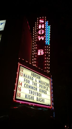 Nahkoandmedicineforthepeople Concerts Seattle Night Neon Raining City Raining Again Outdoors Nightlife Nahko