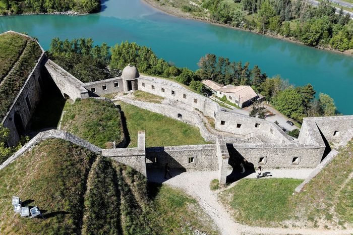 Citadel of Sisteron Sisteron Ancient Civilization Architecture Building Exterior Built Structure Day High Angle View History Nature No People Old Ruin Outdoors Scenics Sky Travel Destinations Tree Vauban Water