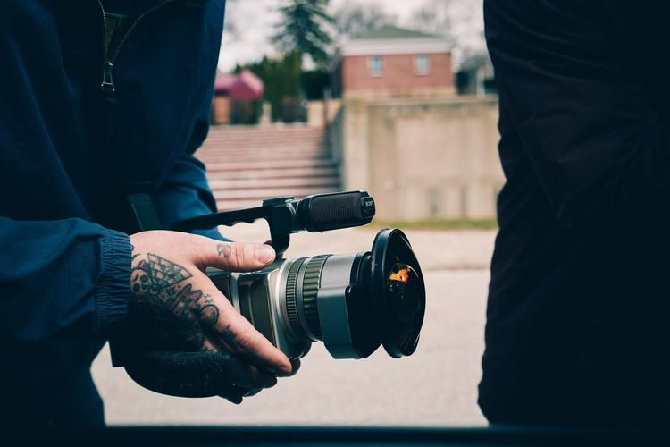 Filming in North Providence, RI. Two People Midsection People Men Human Hand Human Body Part Day Tattoo Tattooed Sony Skateboarding Fisheye