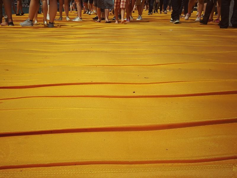 Walking on the Floating piers | The Essence Of Summer Golden Moments  Getting Inspired Point Of View People Still Life Close-up Edge Of Imagination The Innovator The Mix Up Christo And The Floating Piers The Floating Piers Tailored To You 43 Golden Moments Walking Fine Art Original Experiences Lago D'Iseo Showcase July EyeEm Italy |