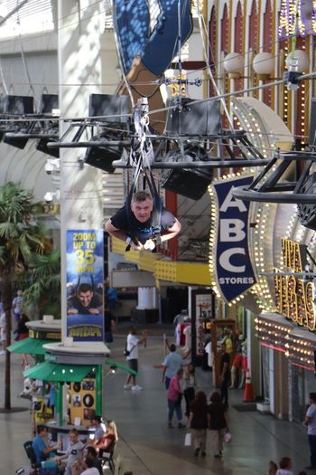 Done That. Freemont Street Experience Zip Lining Las Vegas NV