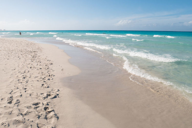 Cuba Varadero Beach Beauty In Nature Carribean Day Horizon Over Water Nature Outdoors Sand Scenics Sea Sky Tranquil Scene Tranquility Vacations Water Wave