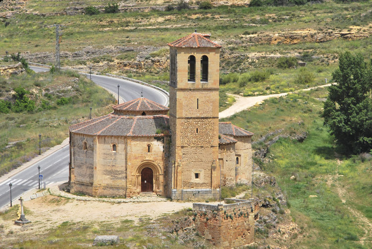 Church Vera Cruz Architecture Belief Building Building Exterior Built Structure Day History Land Landscape Nature No People Old Outdoors Place Of Worship Plant Religion Templar The Past Tree