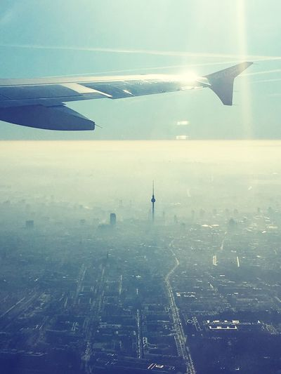 Transportation Airplane Mode Of Transport Travel Aerial View Sky Flying Journey Air Vehicle Airplane Wing Aircraft Wing Outdoors Day Nature No People Runway Berlin Photography Berlin A320 Germany Pilotlife View Of A Pilot The City Light Flying High Welcome To Black