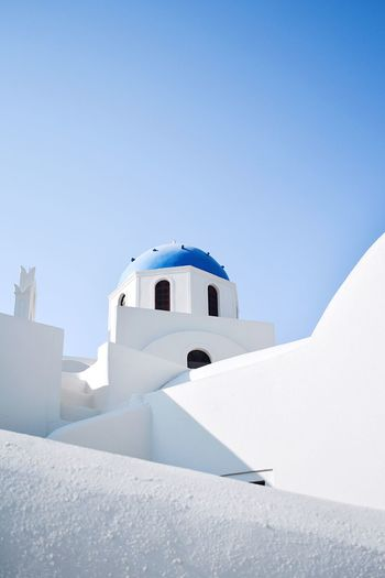 Worship Arch Greek Islands Vacations Travel Destinations Santorini The Week on EyeEm EyeEmBestPics Eye4photography  EyeEm Best Shots EyeEm Gallery EyeEm Selects The Traveler - 2018 EyeEm Awards The Architect - 2018 EyeEm Awards Architecture Built Structure Building Exterior Blue Sky Nature Day Building Religion Place Of Worship Whitewashed Travel Spirituality Outdoors Clear Sky White Color The Architect - 2018 EyeEm Awards