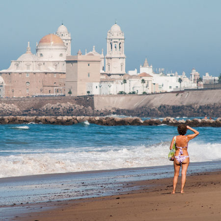Discover Your City Outdoors Nature Tranquility Wave Day Blue Sea Beauty In Nature Travel Destinations Beach Sun Sea One Person City Life Finding Sand And Sea Andalucia, Spain Cadiz Beach Andalusian Good Weather Autumn Winter Summer Spring Holiday Cádiz!
