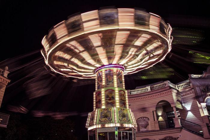 Amusement Park Amusement Park Ride Arts Culture And Entertainment Carousel City Color Colorful Ferris Wheel Fun Fun Ride Happy Illuminated Night Nightlife No People Outdoors Prague Prater Prater/Vienna Praterstern Ride Sky Vienna