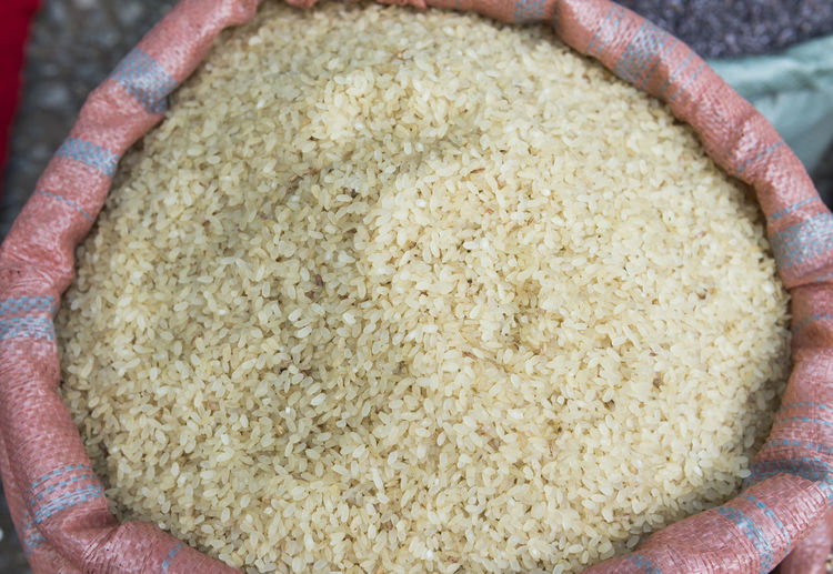 Close-up Of Rice For Sale