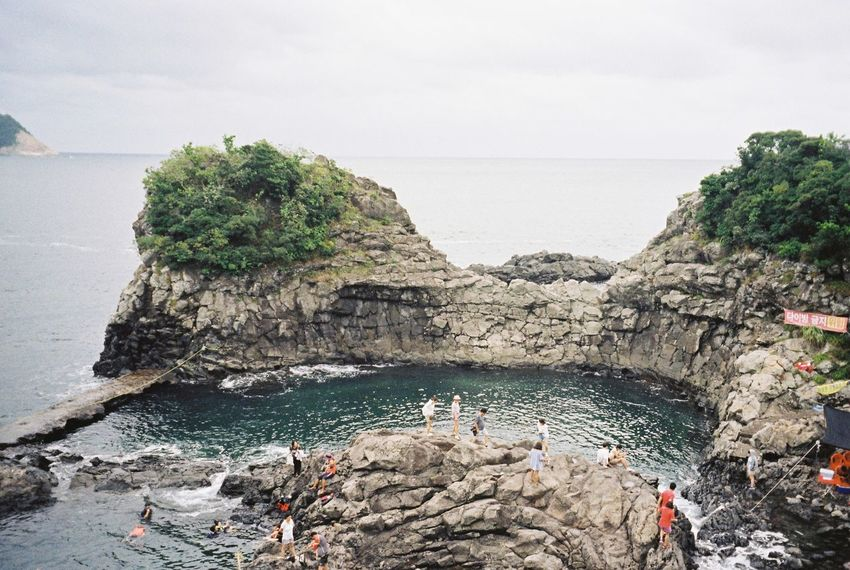 Korea Jeju Island, Korea JEJU ISLAND  Film Filmcamera Film Photography Beauty In Nature Clear Sky Nature Photography Beach Happy Travel