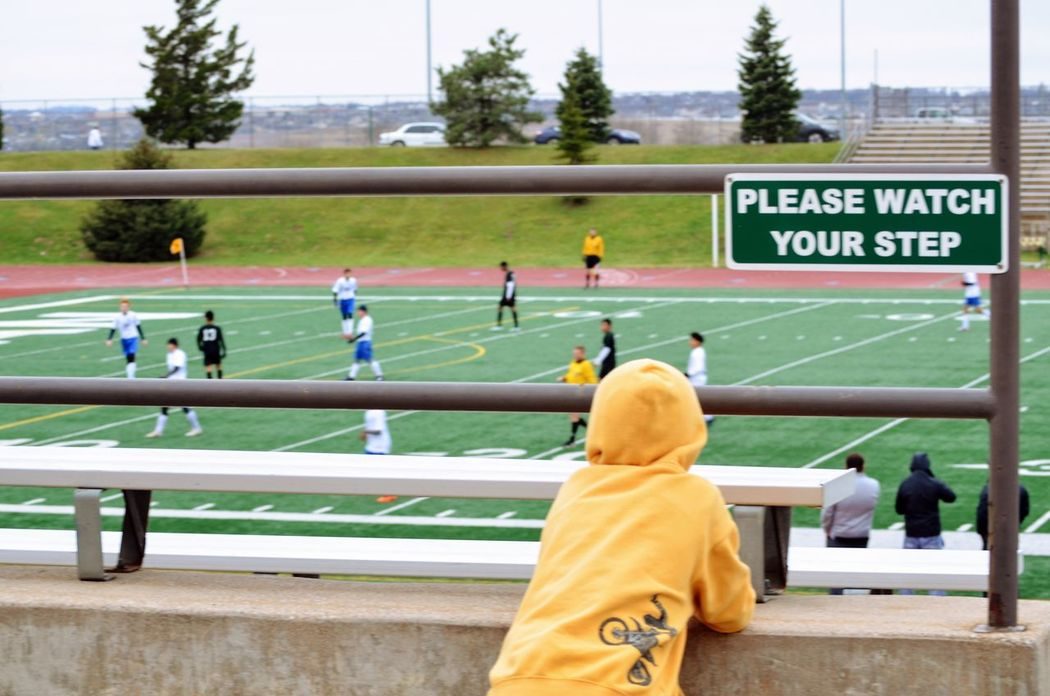 Visual Journal March 2017 Omaha, Nebraska Competition Competitive Sport Everyday Lives EyeEm Gallery Football FUJIFILM X-T1 On The Road Outdoors Photo Diary Photo Essay Real People Rear View Soccer Field Sport Storytelling Visual Journal