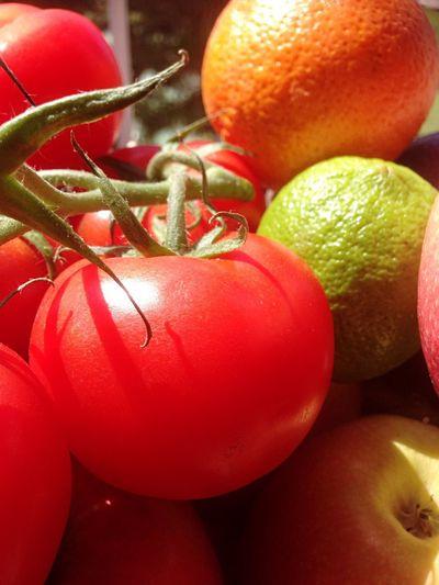 Full frame of fresh fruits
