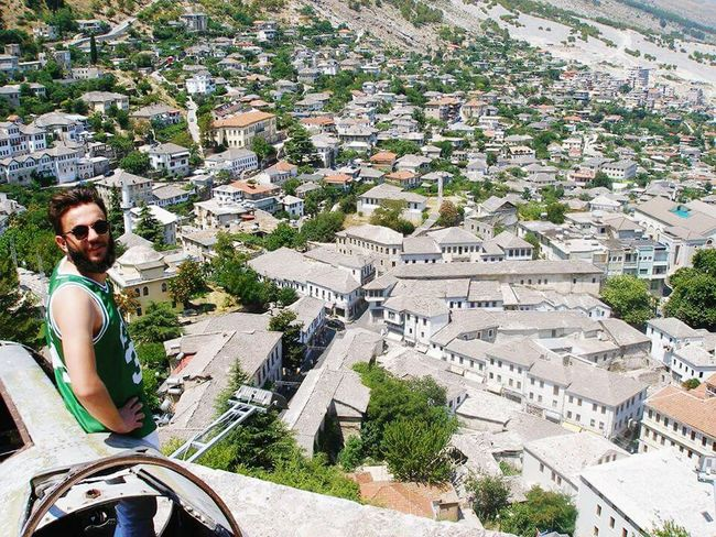 Gjirokaster Albania Cityscapes Old Buildings Old Town