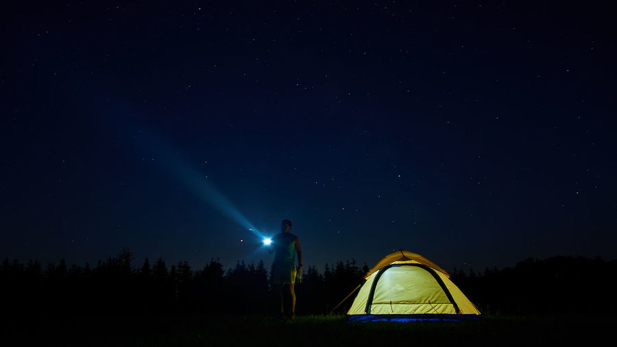 Astronomy Beauty In Nature Camping Constellation Dark Exploration Flashlight Galaxy Illuminated Infinity Milky Way Nature Night Scenics - Nature Science Sky Space Space And Astronomy Star Star - Space Star Field Tent